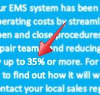 EMS savings claims