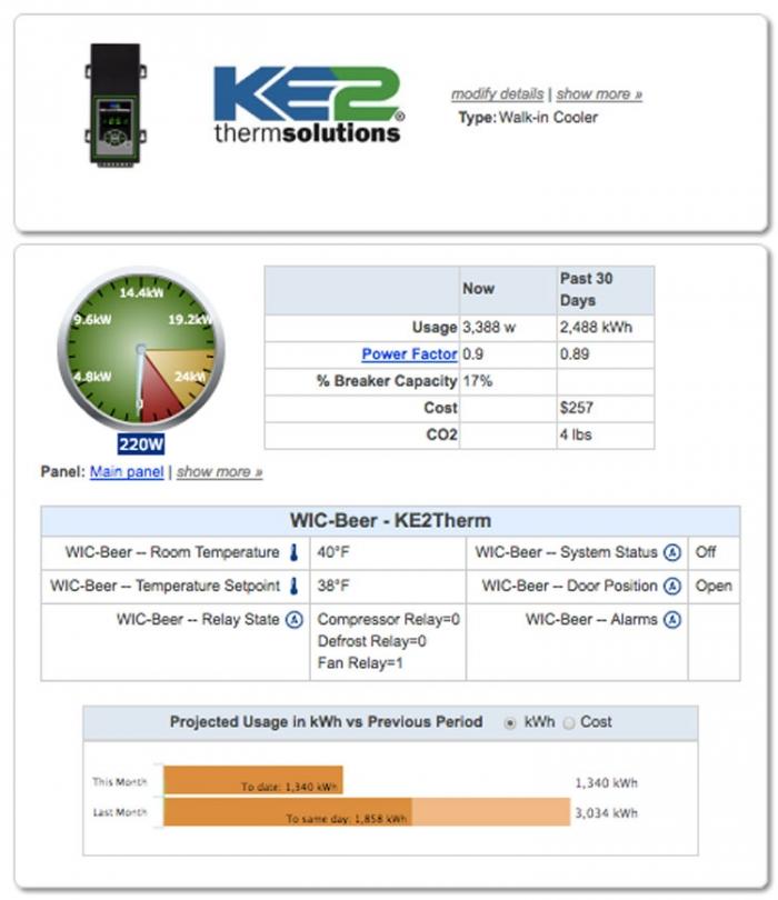 KE2 Therm remote refrigeration control