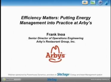 Arby's webinar Efficiency Matters