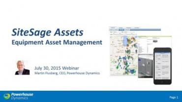 SiteSage Assets demo webinar