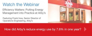 Efficiency Matters Arby's webinar