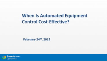 Automated Equipment Control webinar