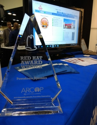 Arby's Red Hat Award 2016 to Powerhouse Dynamics