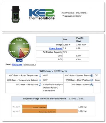 KE2Therm remote equipment access through SiteSage