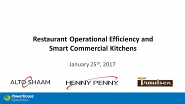 Restaurant Operational Efficiency and Smart Commercial Kitchens Webinar